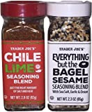 Trader Joe's Seasonings Bundle - Everything But the Bagel Sesame and Chile Lime Seasoning Blends (Package of 2)