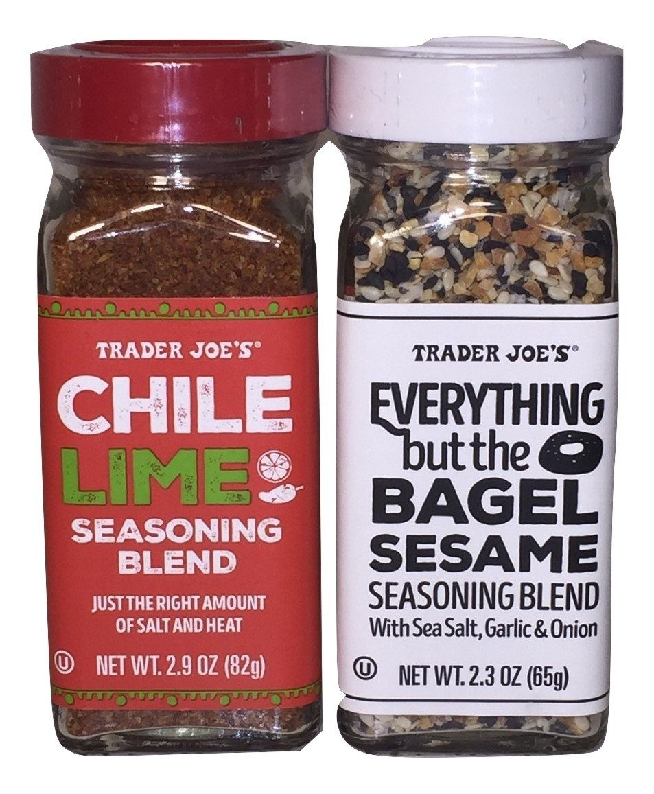 Trader Joe's Seasonings Bundle - Everything But The Bagel Sesame and Chile Lime Seasoning Blends (1 of each) by Trader Joe's (Image #1)