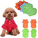KINGMAS 4Pcs Pet Dog Puppy Polo T-Shirt Clothes Outfit Apparel Coats Tops