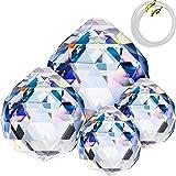 Demino Regenbogen unregelm/ä/ßige Kristalle Kugel Prism Transparent Anh/änger Octagon Korn h/ängend Dekorative Drops