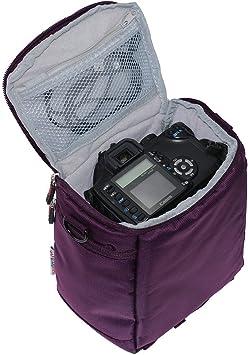 Navitech Lila Digital Slr Kamera Schutz Tasche Etui Computer Zubehör