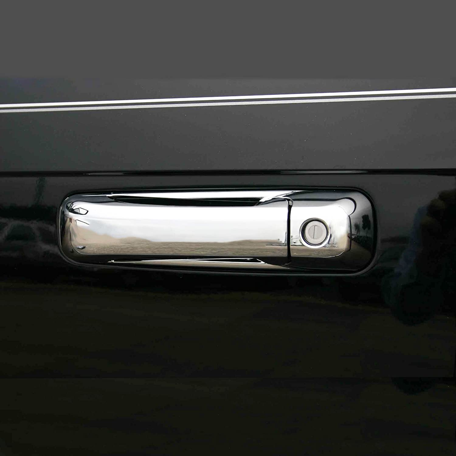 Chrome Door Handle Covers for 2010-18 Dodge Ram 4 Door with Driver Side Key Hole Only