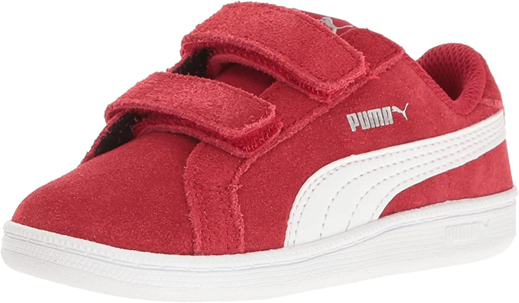 87870ce3e23 PUMA Kids Smash Fun SD V Inf Running Shoe Barbados Cherry White