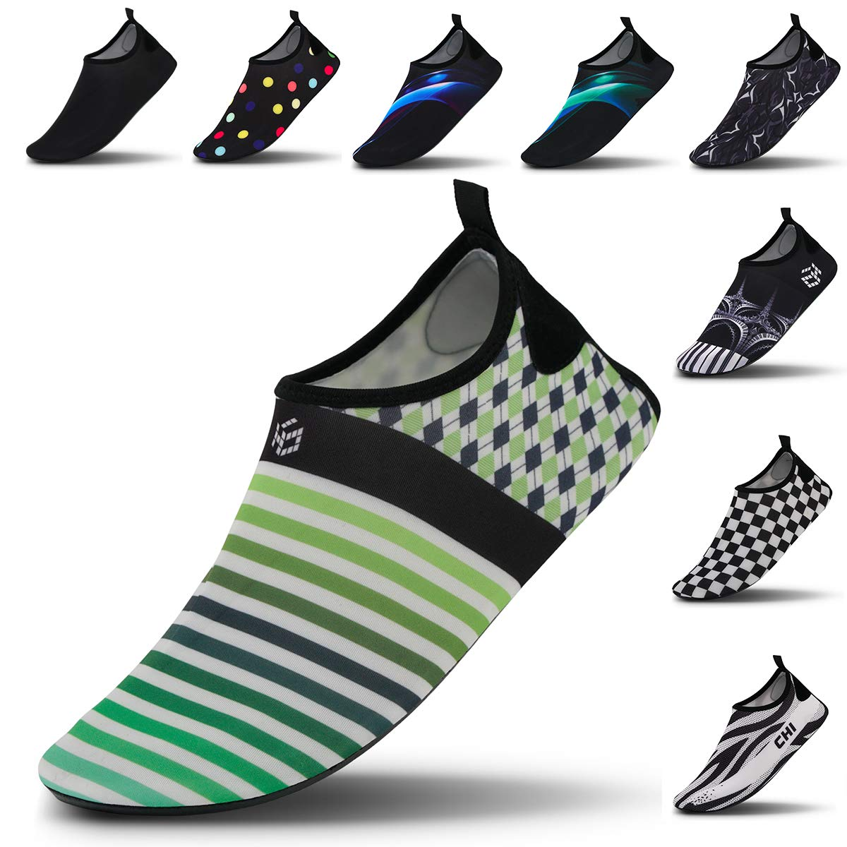 bf5087339bf Vaincre Womens and Mens Water Shoes Barefoot Quick-Dry Aqua Socks for Beach  Swim Surf Yoga Exercise (Men:11-12)
