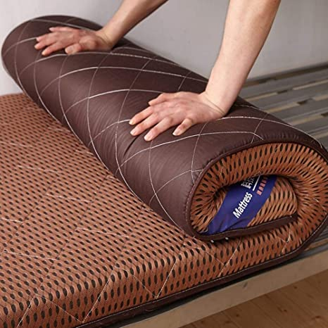 Tatami Sleeping Futon Mattress Folding Thicken Mattress Topper Breathable Bed Mattress Soft Floor Sleeping Mattress Color : A, Size : Twin WNBED Mattress Floor Mat
