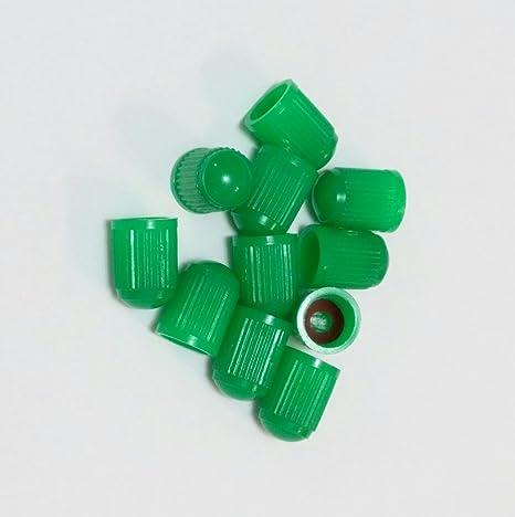 Tapones verdes para sellar válvulas al inflar ruedas con nitrógeno (paquete