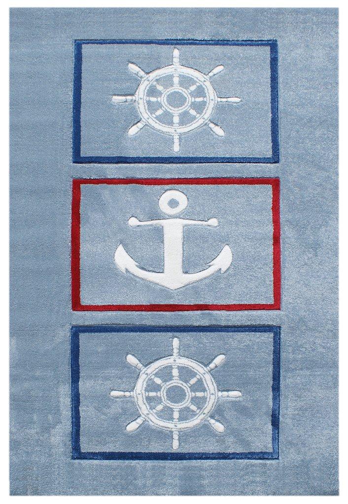 Livone Kinderteppich Happy Rugs AUF Hoher See 8 hellblau 120 x 180 cm