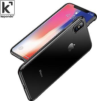 Kepondo Funda iPhone X Transparente, Caja de Gel Cristalina ...