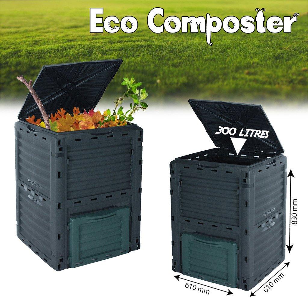 Cubo de basura, 300 L, para residuos orgánicos, para jardín ...