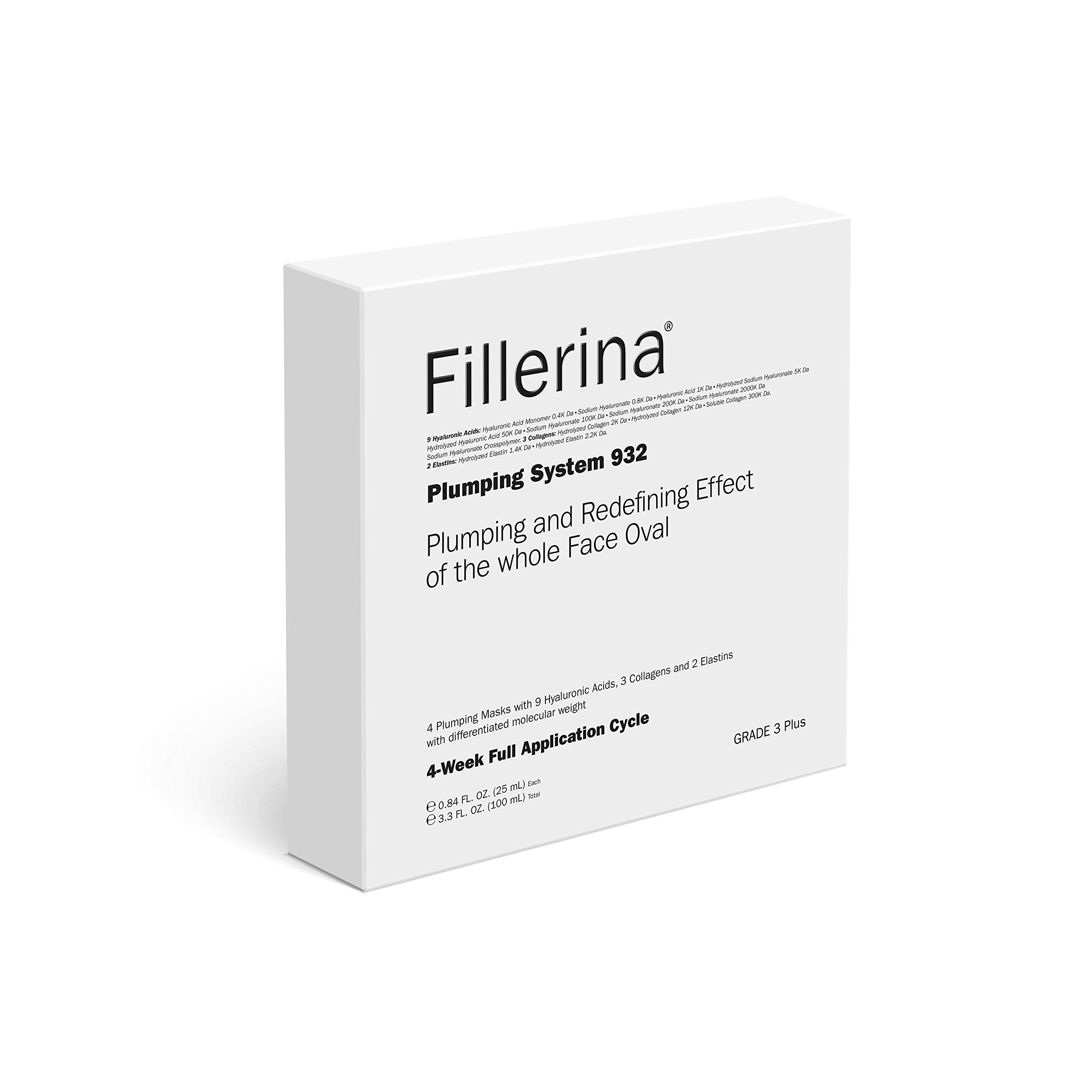 Fillerina 932 Plumping System Anti Aging Face Masks - 4 Hyaluronic Face Masks That Help Hydrate, Moisturize, and Redefine The Face