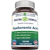 Amazing Formulas Hyaluronic Acid 100 mg 120 Capsules (Non-GMO,Gluten Free) - Support Healthy Connective Tissue and Joints - P