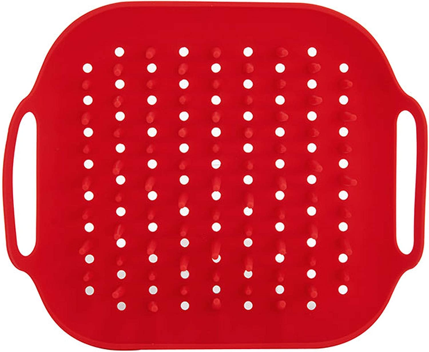 Instant Pot Official Air Fryer Silicone Pronged Tray, One size, Red