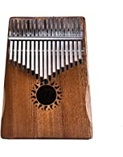 ETbotu 17 Key Kalimba Thumb Piano Kids Adults Solid Mahogany Body Music Finger Percussion Keyboard(Sun Flower)