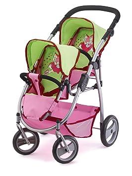 Amazon.es: Bayer Design Cochecito de Gemelos, Buggy Color Verde, Rosa 26545AA: Juguetes y juegos