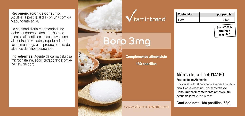 vegano - sin estearato de magnesio, 180 tabletas: Amazon.es: Salud y cuidado personal