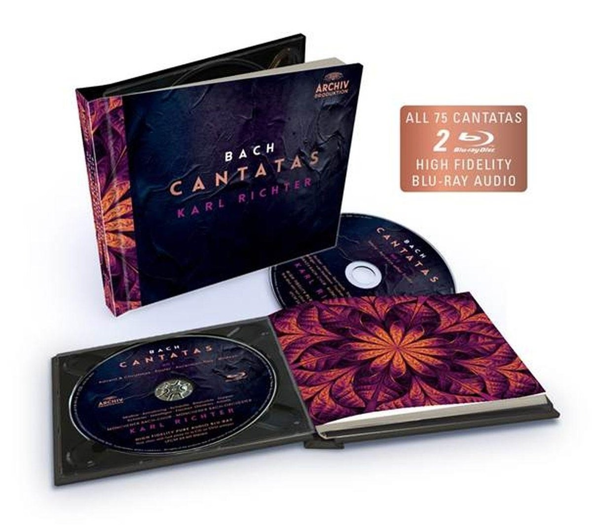 Blu-ray Audio : Karl Richter/Mnchener Bach-Chor/Mnchener Bach-Orchest - Cantatas (2PC)