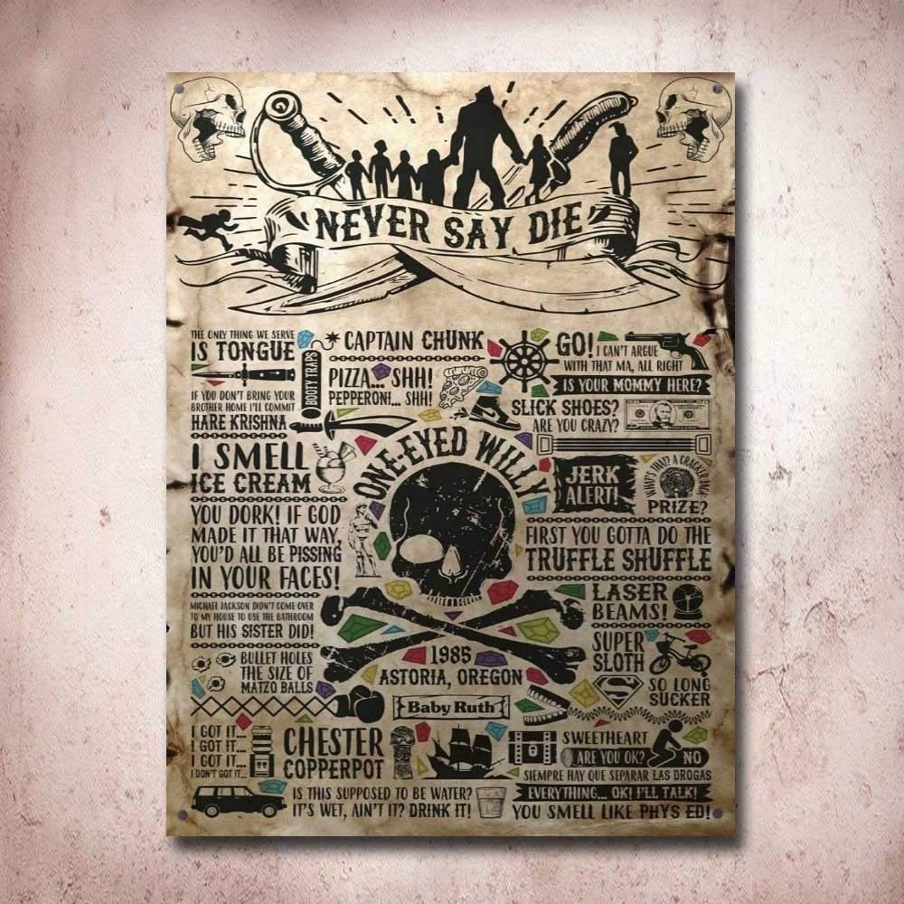 Amazon.com: Tin Sign 8X12 inches The Goonies Treasure Map ...