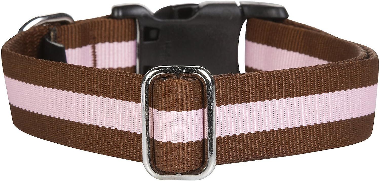 "11/"" NEW Harry Barker Links Adjustable Dog Collar Pink Brown Small 5//8/"" x 6/"""