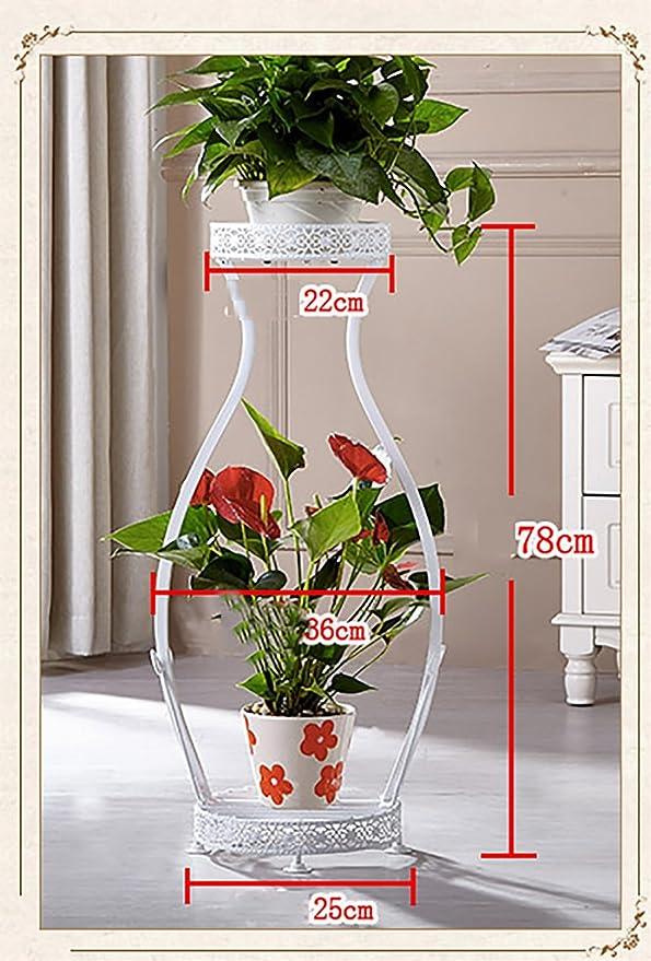 Blumen-Rahmen Eisen DIY Multi-Layer-Boden Hängen Orchideen Töpfe ...