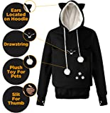 Petgaroo Womens Sweatshirt (Sizes Run Smaller) With Pet Holder For Cats Kittens Dogs Puppies Pet Holder Kangaroo Pouch Hoodie