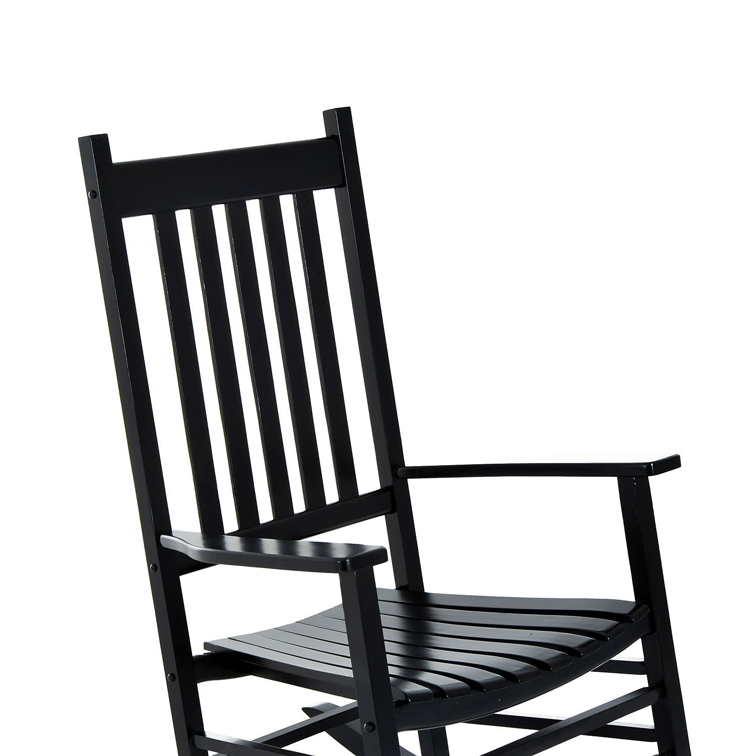Outsunny Porch Rocking Chair - Outdoor Patio Wooden Rocker - Black by Outsunny (Image #4)