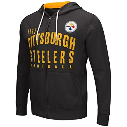 Pittsburgh Steelers Men s Long Sleeve  quot Carry quot  Hoodie   Hooded  Sweatshirt Small b3a335bf0