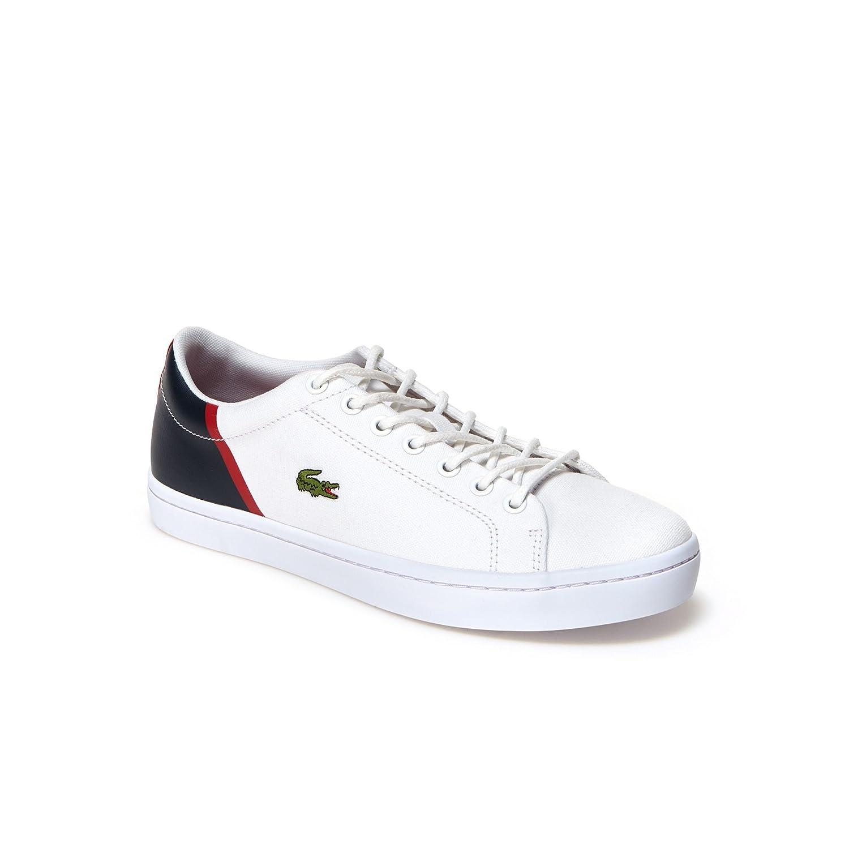 Lacoste Men's Straightset Sport 118 2 Canvas Lace Size Up Trainer White Navy-White-11 Size Lace 11 Parent 0f80d9