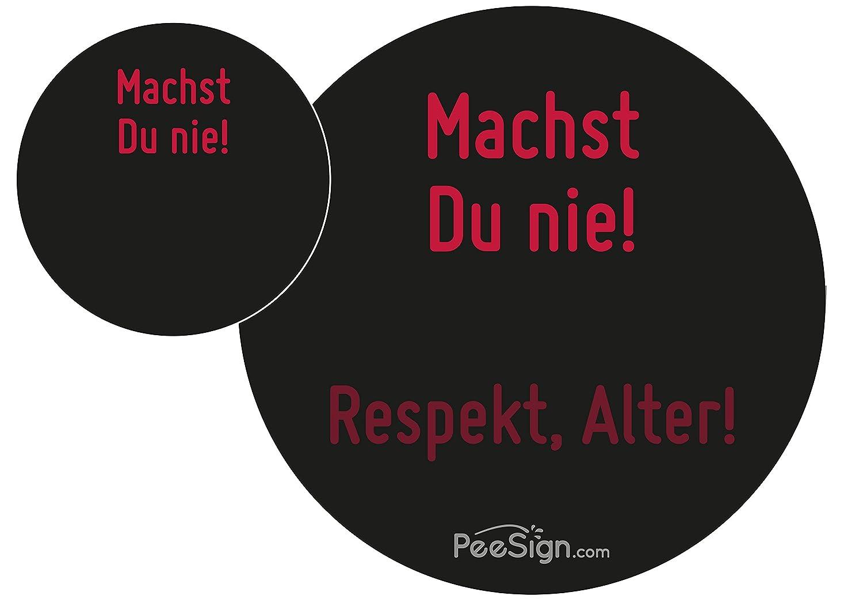 Effekt Aufkleber Sticker Urinal PEESIGN 'MACHST DU NIE!' Urinal Spiel
