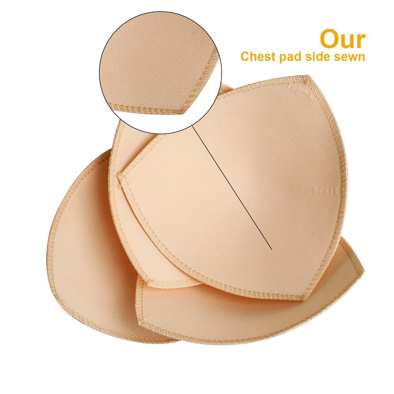 c3b9b563a9760 Amazon.com  FUNCYboo 2 Pairs Removable Replacement Bra Pads Inserts Bikini Inserts  Push up Pads  Clothing