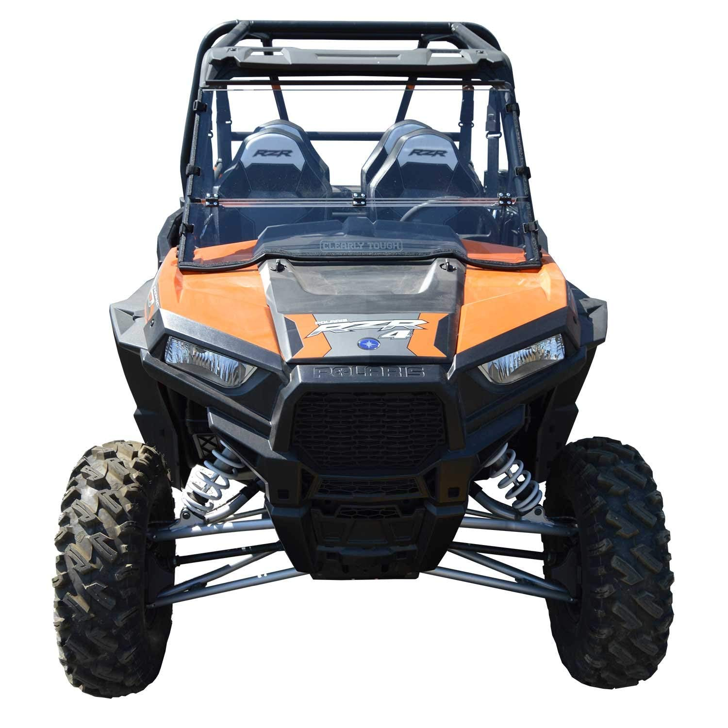 Premium poly w//Hard Coat.Made in America! 2015 /& Newer Models - Full Folding -SCRATCH RESISTANT- The Ultimate in SXS Versatility Polaris RZR 900 Windshield Easy On or Off