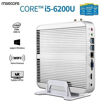 Amazon.com: Msecore Home Fanless Mini PC Host With Intel i5-6200U 5th Generation CPU Intel Hd Graphics Hd520, single 4GB DDR3 RAM, 128GB mSATA SSD: ...