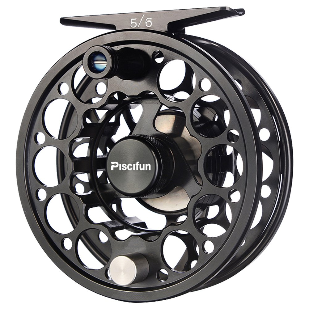 Piscifun Fly Fishing Reel with CNC-machined Aluminum Alloy Body (Black) 3/4