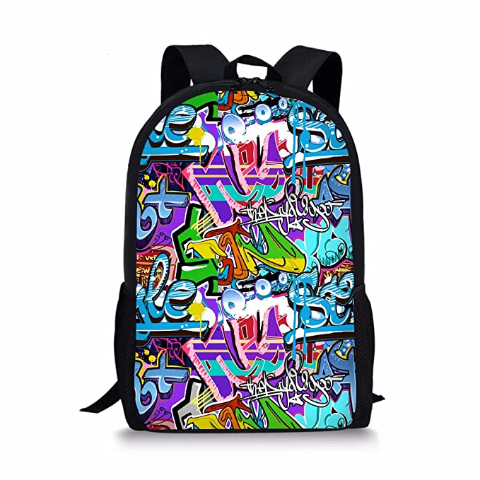 4d96da1668 Showudesigns Colorful Primary Student Kids Graffiti Backpack Child School  Bags