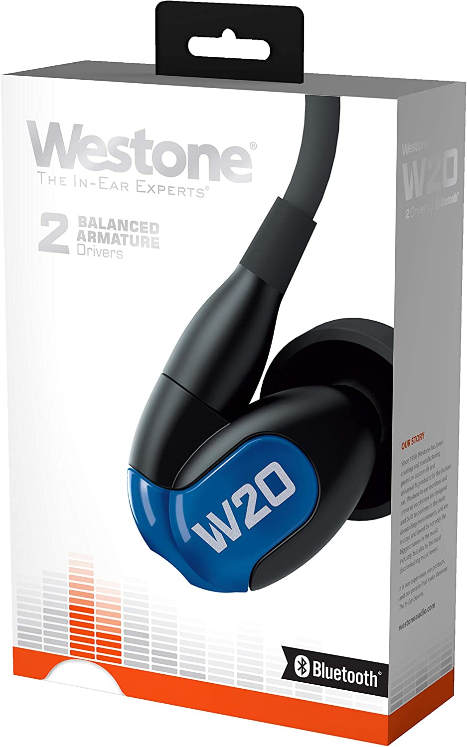 Westone W20 with Bluetooth Cable Dual-Driver True-Fit Earphones with 3 Button Cable with Microphone