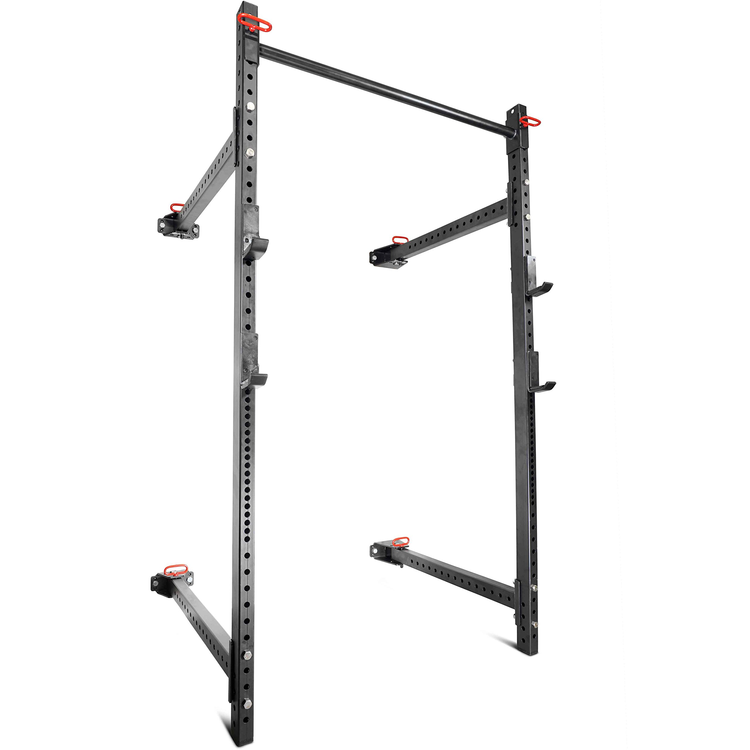 Titan Fitness T-3 Series Fold Back Power Rack 41'' Deep Wall Mounted Laser Cut