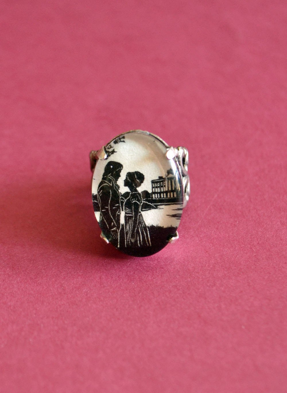 Amazon.com: PRIDE AND PREJUDICE Ring - Elizabeth and Darcy at ...