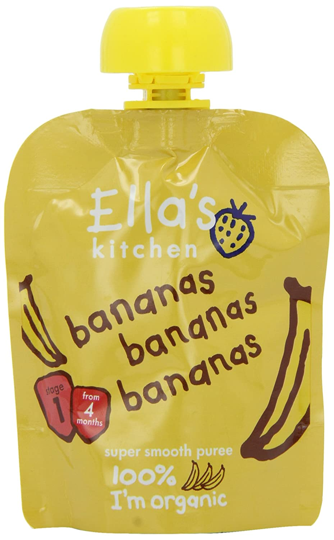 Ella's Kitchen Stage 1 From 4 Months - Bananas 70 g (Pack of 7) Ella' s Kitchen EK150