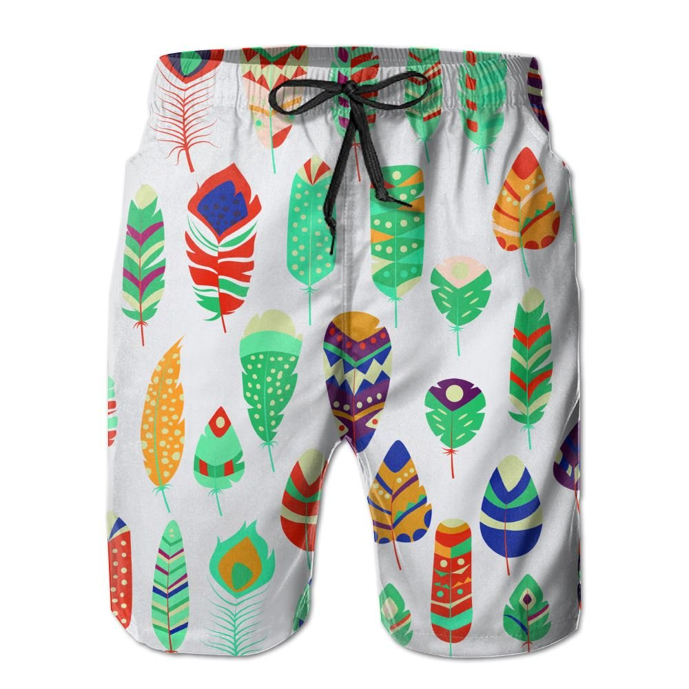 Watercolors Feather Sport Shorts For Men