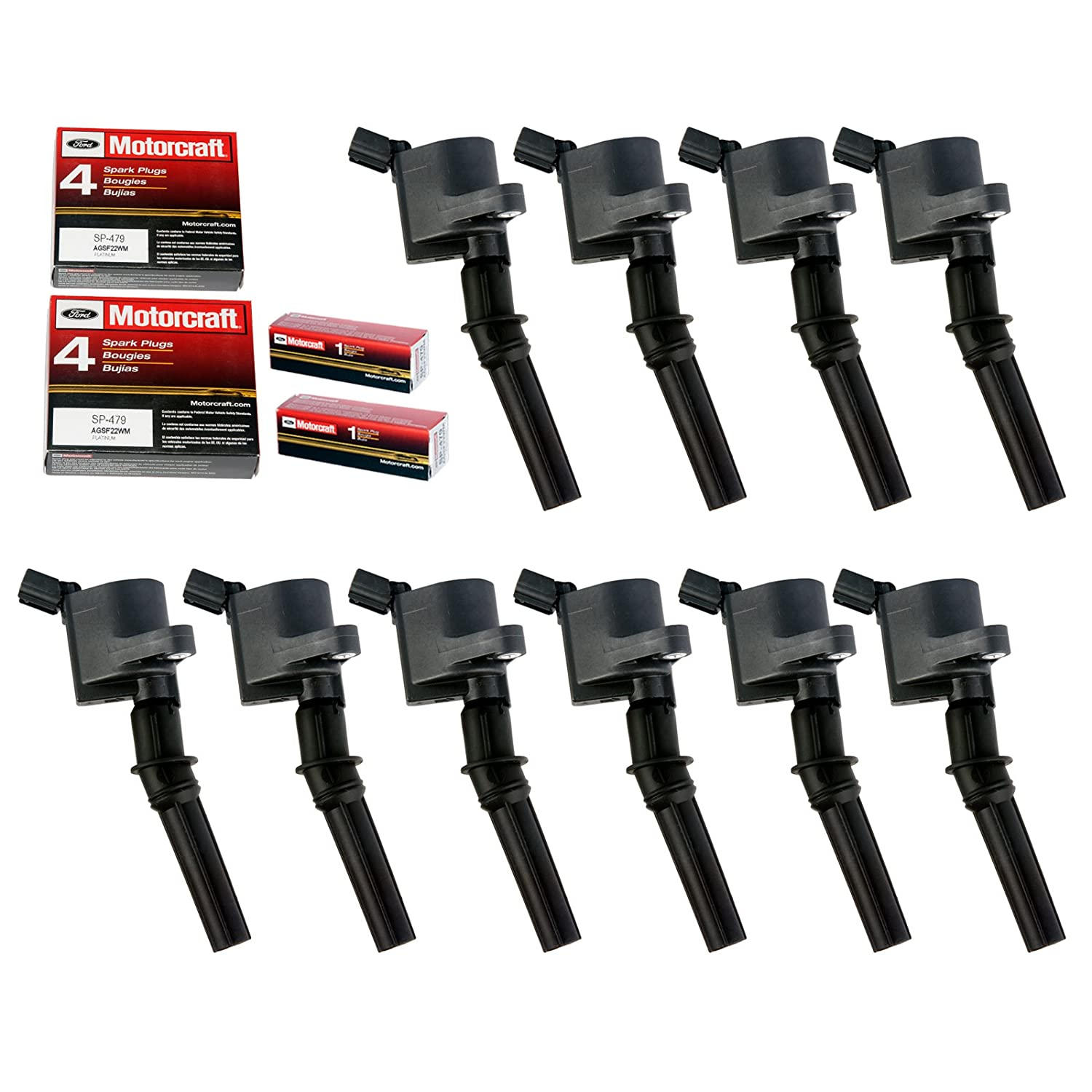 Ignition Coil DG508 for Ford 4.6L 5.4L V8 DG457 DG472 DG491 CROWN VICTORIA EXPEDITION F-150 F-250 MUSTANG LINCOLN MERCURY EXPLORER 3W7Z-12029-AA (Set of 10 ...