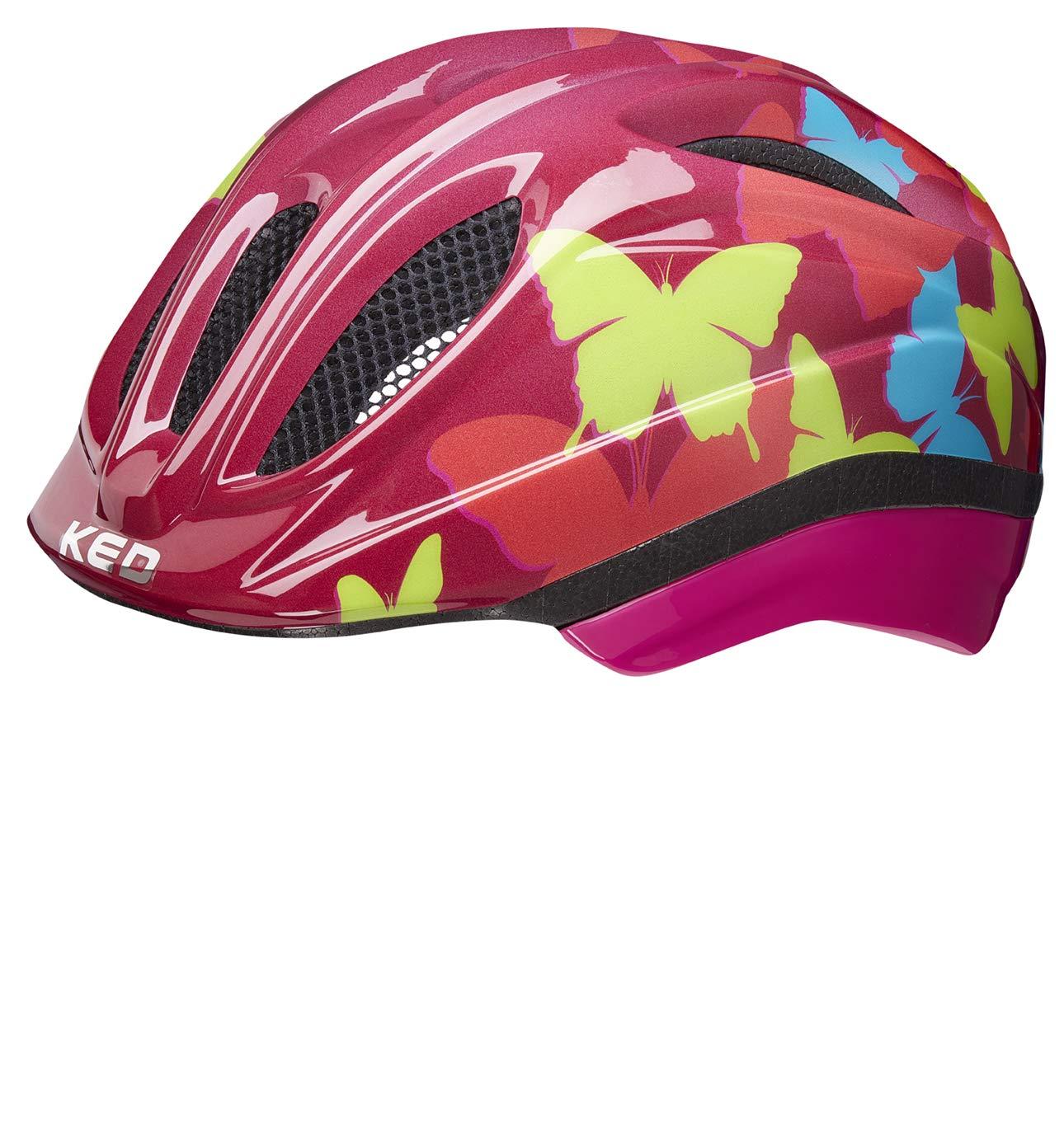KED Fahrradhelm Kinder und Jugend Meggy Trend Butterfly Bordeaux 52-58 cm M
