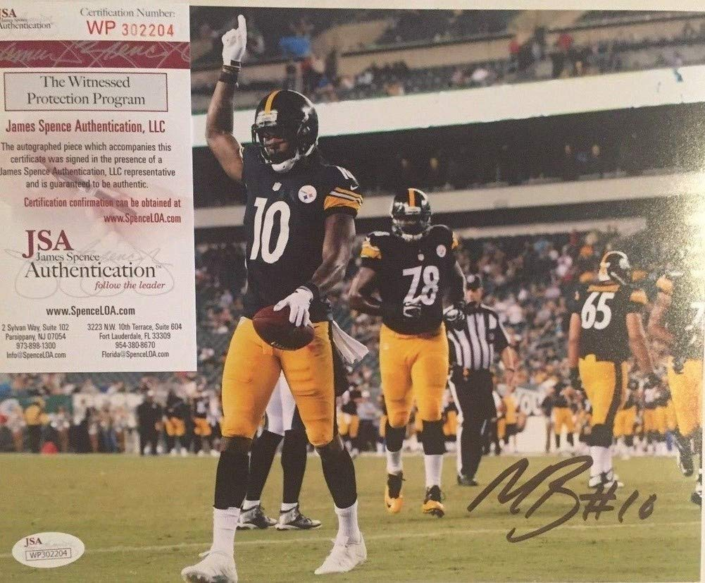 edb8927d6 Martavis Bryant Autographed Pittsburgh Steelers 8x10 Photo 3 - JSA  Authentication at Amazon s Sports Collectibles Store