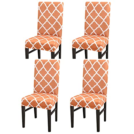 Remarkable 4 6 Pack Stretch Dining Chair Covers High Back Chair Protective Cover Slipcover Elastic Chair Protector Seat Covers For Dining Room Wedding Banquet Caraccident5 Cool Chair Designs And Ideas Caraccident5Info