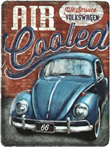 Open Road Brands Volkswagen Blue Car Tin Metal Magnet - an Officially Licensed Product Great Small Gift and Addition to Add What You Love to Your Home/Garage Decor