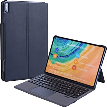 J&H Funda de teclado ultra delgada para Huawei MatePad 10.4 pulgadas, cubierta de aluminio ultra delgada del teclado (TOUCHPAD MOUSE) caso inteligente ...