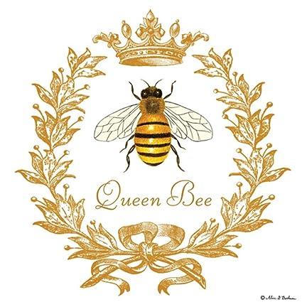 Aliceu0027s Cottage Queen Bee Flour Sack Towels Set Of 2 Cotton