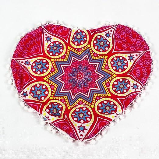 Funda Cojines,Xinan Indian Mandala Pillows Heart Bohemian ...