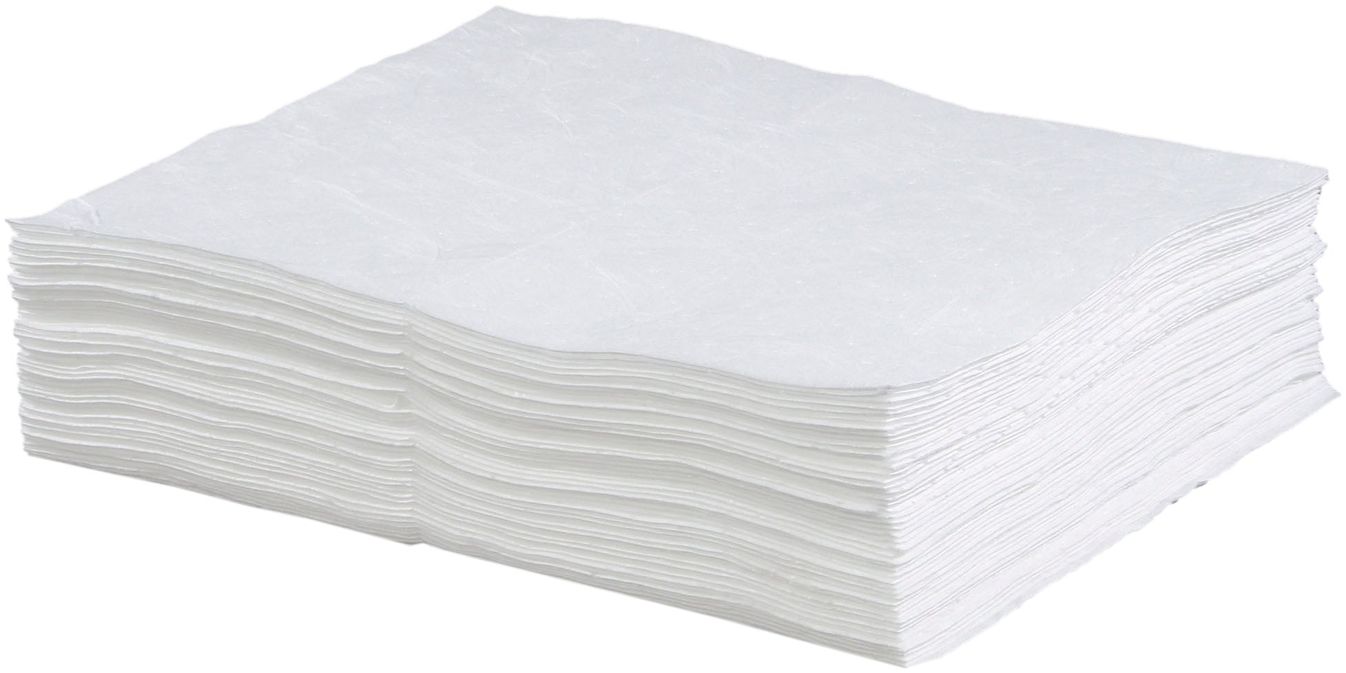 ESP 1MBWPB Polypropylene Heavy Weight Meltblown Oil Only Absorbent Bonded Pad, 18'' Length x 15'' Width, White (100 per Bale)