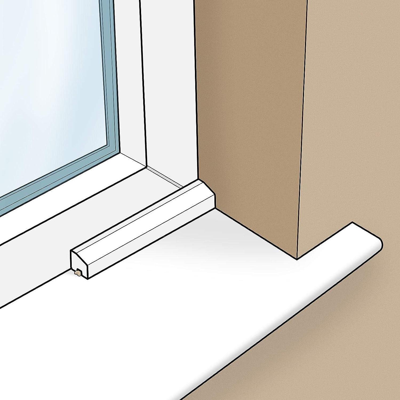 Golden Oak 20mm x 15mm Chamfered Bead uPVC Plastic Window Door Finishing Trim