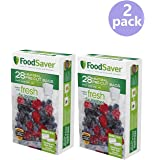 FoodSaver 28 Pint-sized Bags with unique multi layer construction, BPA free (2 pack)