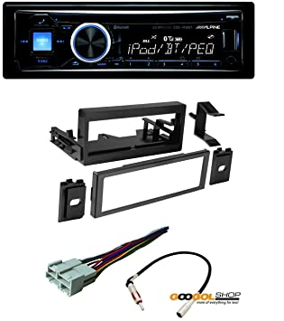 71pFFFlXlfL._SY355_ amazon com car stereo dash install mounting kit wire harness alpine cde 143bt wiring harness at fashall.co